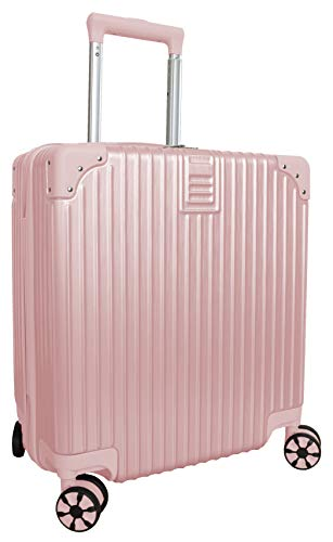 Hard Shell Lightweight Cabin Size Suitcase Carry On Luggage (Pink)