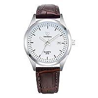 ZHANGZZ高級時計YAZOLE腕時計, 310ブルークォーツ腕時計男性発光時計の男性 (Color : 1)