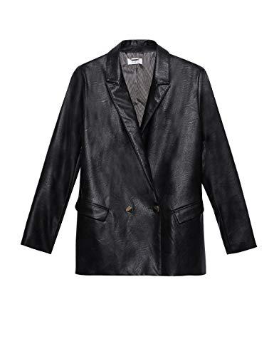 Motieven: Oversize-blazer van imitatieleer (Italian Size)
