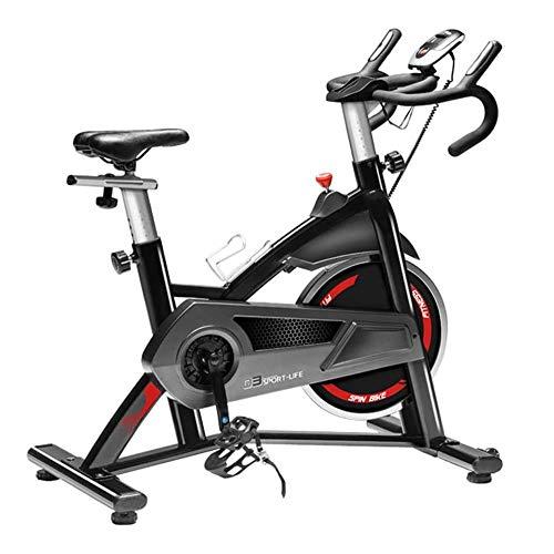 WJFXJQ Ciclismo Indoor Bicicleta estacionaria, Hogar Ajustable silenciosa Bicicleta estática, con Pantalla LCD Digital y Movimiento de la Rueda, fácil de Mover, for la Oficina, Gimnasio