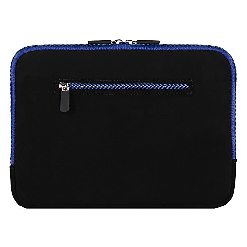 """8 Inch Neoprene Water Resistant Zipper Tablet Carrying Case for Asus ZenPad 7.9"""" 8"""" / Acer Iconia One 7 / Alcatel A30 8"""" / Alldaymall Kids Tablet 7"""" / Archos Diamond 7.9"""" (Black / Blue Trim)"""
