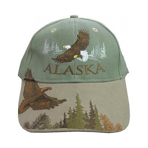 New Alaska Bull Soaring Eagle Fly Ball Cap Hat Deluxe 94ab2ff2f46c