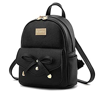 Crutches Cute Mini PU Leather Backpack Fashion Small Day Bagpack Purse for Girls and Women