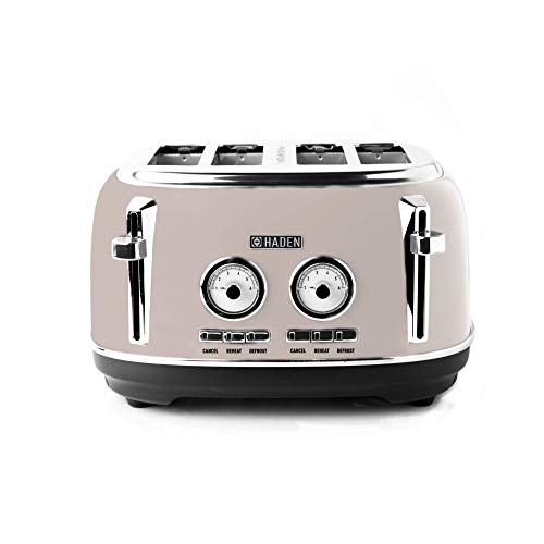 Haden Jersey Toaster ??Retro?Electric Stainless-Steel Toaster, Four Slice, Putty - CD24