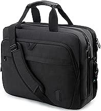 17.3 Inch Laptop Bag,BAGSMART Expandable Briefcase Computer Bag Men Women Lockable,Black