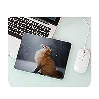 ギフトパッドかわいいFox パタン高速新しいマウスパッド卸売ゲーミングパッドマウス-No Lock Edge25x29cm2-