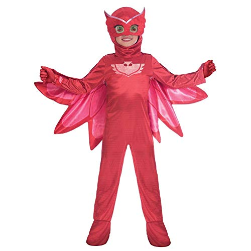 Amscan- Costume PJ Mask Owlette Luxe (7-8 Anni), Multicolore, 7AM9902962