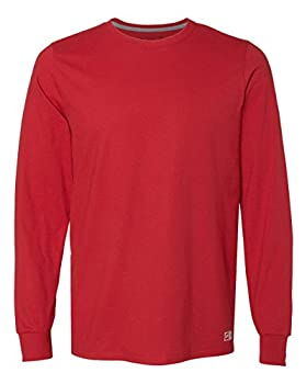 Russell Athletic Men s Cotton Performance Long Sleeve T-Shirts True Red X-Large