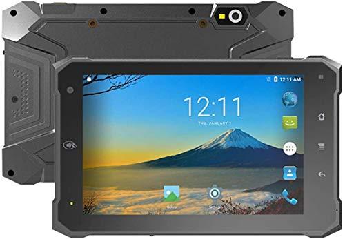 Escáner de código de barras de mano Tableta industrial industrial de 7 pulgadas, Android 6.0, Qualcomm MSM8909 CORTEX A7 Quad Core 1.1GHz 2 interfaces RS232 GPS BT IP64 impermeable, para trabajos móvi