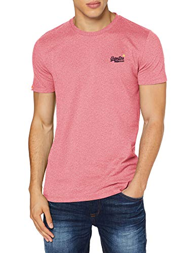 Superdry OL Vintage Embroidery Tee Chemise Casual, Rose (Pink Grit 3go), M Homme