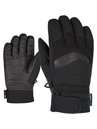 Ziener LABINO AS(R) Glove Junior, Guanti da Sci/Sport Invernali, Impermeabili, Traspiranti. Bambino, Nero, Set da 3