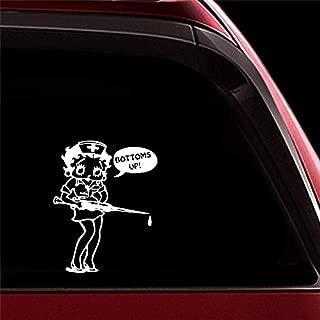sticker de carro 13.8Cmx17.5Cm Betty Boop Personalidad Trunk Car Bumper Decoración Calcomanías Pegatinas