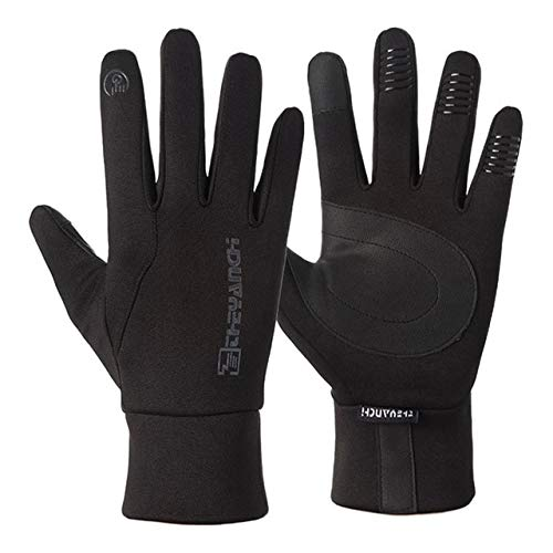 Motorradhandschuhe Moto Handschuhe Winter ThermoGefüttert Winter Wasserdicht Touchscreen rutschfeste Motorradhandschuhe-Q904-01 Black-1-L