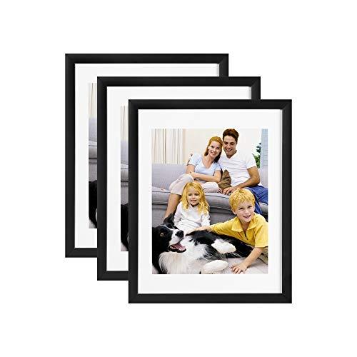 Cliusnra Marco Fotos Pared 29,5x40,9cm: 3Fotos Unidades Fotos 26,8x38,1cm con Estera Negra con Soporte Color Negro para Mamá Memory...