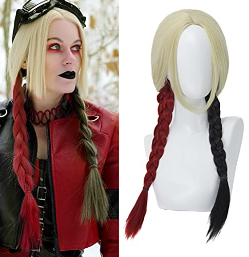FOVER Wigs for Harley Quinn Cosplay Costume Wig...