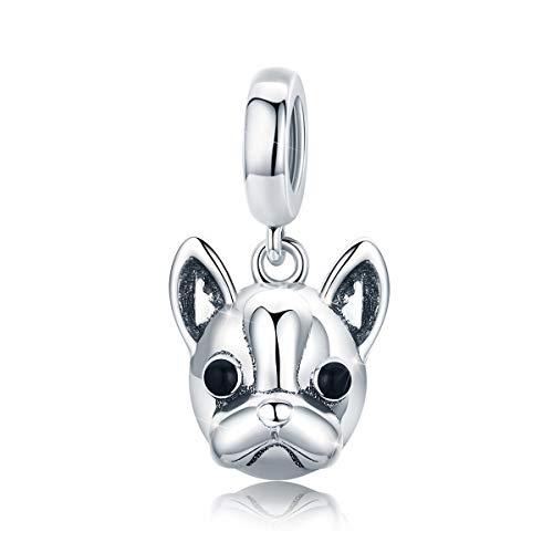 Ciondolo a forma di cane in argento Sterling 925, compatibile con bracciali e collane Style 2