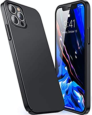 CASEKOO Slim Fit Compatible with iPhone 12 Pro Max Case, Ultra Thin Hard Plastic Protective Phone Case Cover with Matte Finish Coating Cases 6.7 inch, Graphite Black