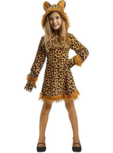 Funidelia   Disfraz de Leopardo para niña Talla 5-6 años ▶ Animales, Desierto, Selva - Color: Marrón - Divertidos Disfraces y complementos para Carnaval y Halloween
