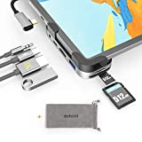 dodocool USB C ハブ 100W PD 給電 4K HDMI SD&Micro SDカードリーダー 3.5mmオーディオポート USB 3.0 ポート iPad Pro ハブ iPad Pro 2020 2018 11 12.9/MacBook/MacBook Pro/Air/SAMSUNG/Huawei Mate対応
