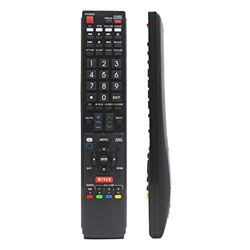 Replacement Remote Controller for LC-70C8470U LC-70LE640U LC-70LE650U LC-80LE650 Sharp Aquos Smart LED 3D HDTV