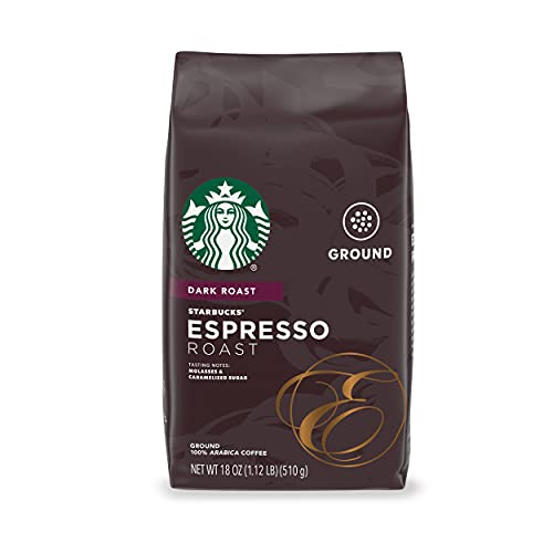 Starbucks Dark Roast Ground Coffee — Espresso Roast — 100% Arabica...