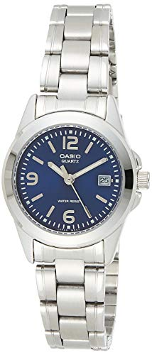 Casio Collection LTP-1259PD-2A, Reloj Análogo Clásico, Acero Inoxidable, Plateado