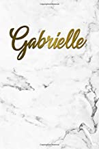 Gabrielle: Cute Grey Marble & Gold Personal Dot Grid Journal. Nifty Personalized Name Dot Gridded Bullet Notebook for Girls & Women.