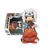 Pop Anime Narutos Jiraiya On Toad # 73 Figura De Acción De Vinilo Juguetes Animación Jiraiya Colección Modelo Juguetes Muñecas Regalos para Niños