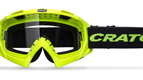 Cratoni C-Rage - Gafas deportivas para bicicleta de montaña, color amarillo neón
