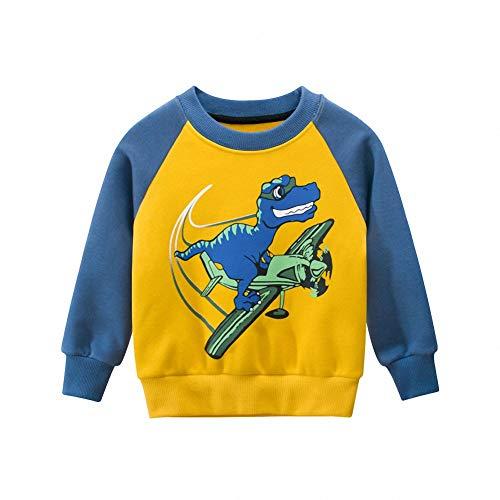 Snyemio Sweat-Shirt Enfant Garçon Imprimé Sweatshirt Casual Tops Sport Pull Hiver Manche Longue Vêtements Automne 1-7 Ans