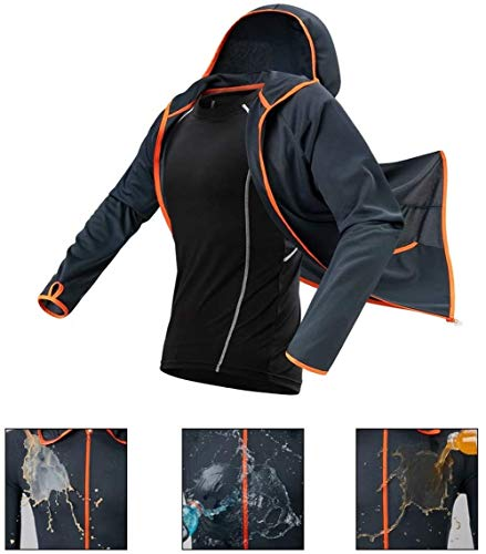 Angelanzug - Die Mit Kapuze Hemden Langärmlige Fischen-Hemden Schnell Trocknende Atmungsaktive Fischen-Kleidung des UVschutzes Fischen (3XL)