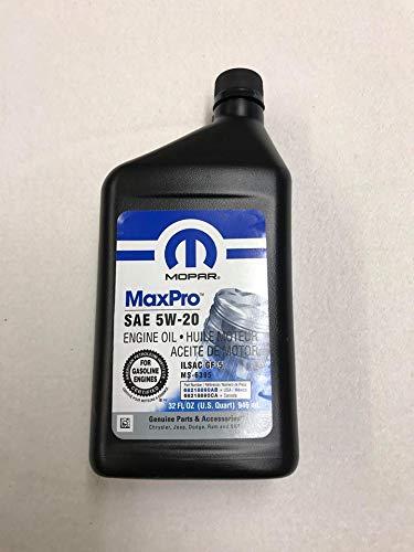Mopar Huile moteur 5W20 authentique 0,946L 68218890AB MS-6395 FLU2