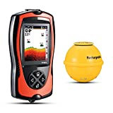 Atibin Sensor Portable Fish Finders Water Wireless Transducer Depth Finder Kayak Shore Handheld Fish Finder Sonar Canoe Fishing