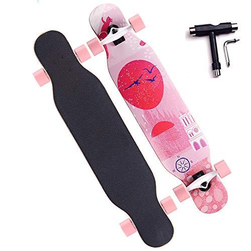 VOMI Adolescentes Skateboard, Capacidad de Carga Máxima 200kg, Impresión Por Transferencia de Calor, Superficie Antideslizante, ABEC 11 Rodamiento, Adecuado Para Principiantes y Adultos, With T-Tool,C