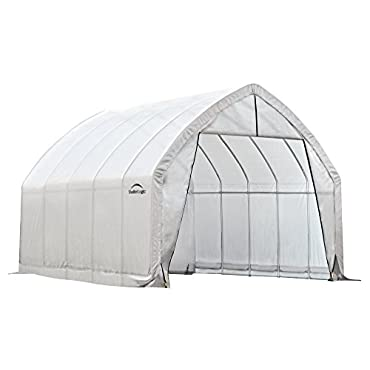 ShelterLogic 70560 GrowIT High Arch Greenhouse with Heavy Duty Steel Metal Frame and Waterproof Ripstop Cover for Tall Plants, 13' x 20' x 12' White