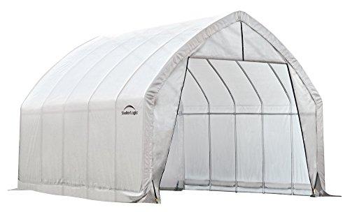 ShelterLogic Foliengewächshaus, Gewächshaus, Tomatengewächshaus 24,4 m² // 390x610 cm (BxT) // Folienhaus & Tomatenhaus