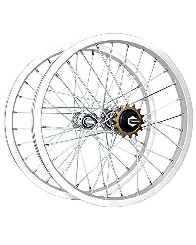 Juego De Ruedas De Bicicleta De 16/20'Llanta De Aleación De Aluminio Engrosada Ruedas Delanteras Y Traseras De Bicicleta Plegable 28H Buje De Una Velocidad,16 Inches