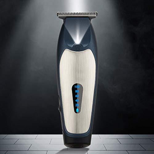 MISS YOU Tondeuses à Cheveux Cheveux électriques Tondeuse Huile Rasoir Couteau électrique tête tête Cheveux Coupe de Cheveux Chauve Salon Pousser écran LCD Blanc (Color : B)