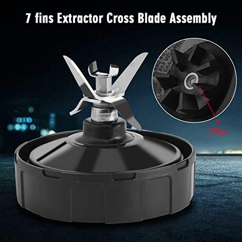 Cuchilla extractora de repuesto - Accesorios para exprimidor con base de cuchilla de acero inoxidable, pieza para licuadora de 1000/1500 W con 7 aletas