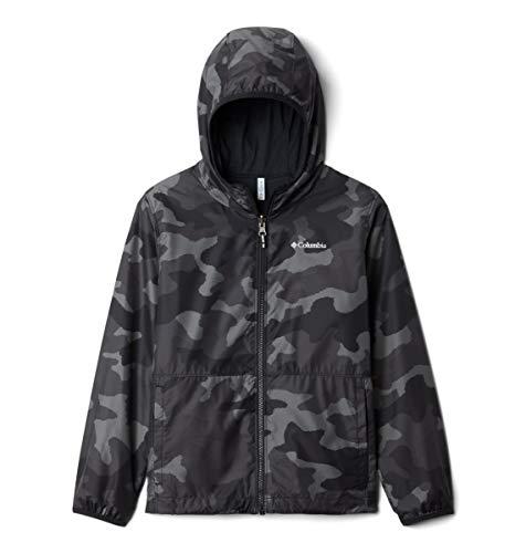 Columbia Jacket Pixel Grabber - Chaqueta reversible, Camuflaje Trad Negro, L Unisex niños