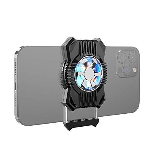 bozitian Refrigerador de teléfono, ventilador de teléfono, enfriador de teléfono móvil, controlador de juegos, ventilador, disipación del calor, para smartphones de 4 a 7,4 pulgadas