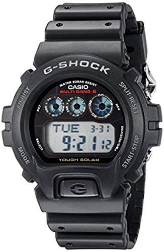Casio G-Shock GW6900-1 Reloj deportivo solar resistente para hombre, color negro y paquete de toallas