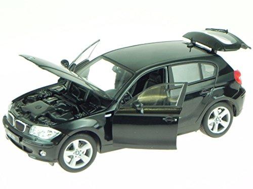 BMW e87 120i schwarz Modellauto 12557 Welly 1:18