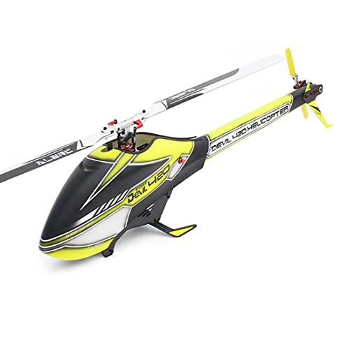 YOU339 AlzRC - Elicottero radiocomandato Devil 420 Fast FBL Kombi GPS 6 CH 3D 2,4 GHz RC elicottero elettrico doppio senza spazzole – versione standard giallo