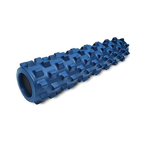 RumbleRoller Schaumstoffwalze Blau Medium. Faszienrollen für Tiefe Gewebemassage. 3D-Massageroller mit Triggerpunkt-Stimulation für Intensive Schmerzlinderung (Blau-Fest, 55 cm)