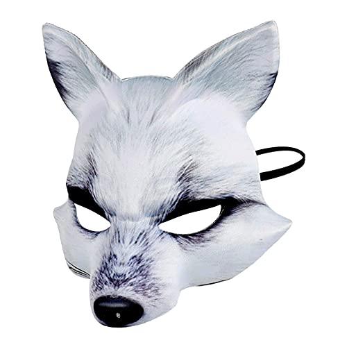 Máscara De Zorro, Máscara De Halloween Máscara De Fiesta De Halloween Máscara De Media Cara De Halloween Cosplay Máscaras De Disfraces Máscara De Zorro Sexy Cosplay para Hombres/Mujeres