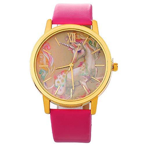 SANDA Relojes De Pulsera,Reloj de Pulsera Reloj de Correa de Mujer Nuevo Reloj de Estilo-Rosa roja