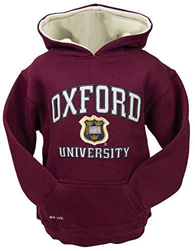 Oxford University OU129K - Sudadera unisex con capucha para niños, color granate Rojo rojo (Maroon) 11-13 Años