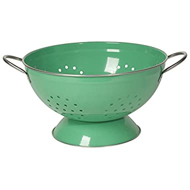 Now Designs Metal Colander, 3-Quart, Greenbriar Green