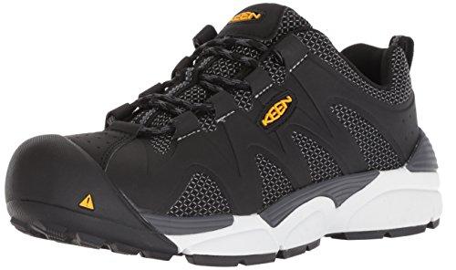 KEEN Utility Men's San Antonio at Industrial Shoe, Black/Steel Grey, 13 D US